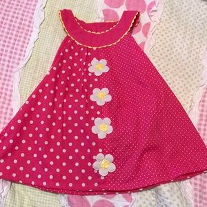 Pink dress with daisies